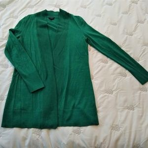 Talbots Kelly Green 100% Merino Wool Cartigan Sz S